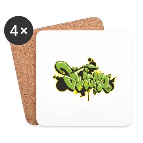 2wear Green Mesk style √ - Glasbrikker (sæt med 4 stk.)
