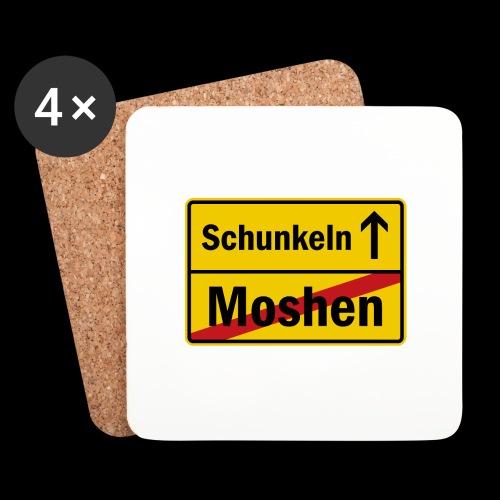 moshen vs. schunkeln - Untersetzer (4er-Set)