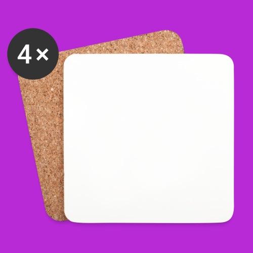 Hoodie White Logo - Coasters (set of 4)