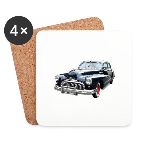 Classic Car. Buick zwart. - Onderzetters (4 stuks)
