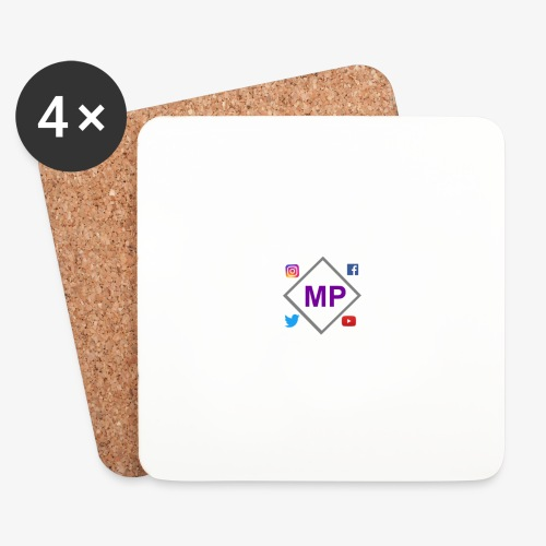 MP logo with social media icons - Coasters (set of 4)