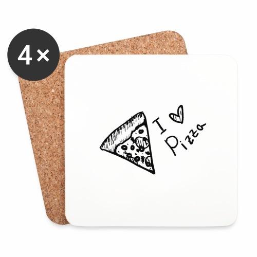 I LOVE PIZZA - Untersetzer (4er-Set)