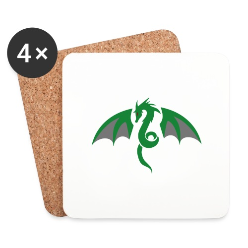 Red eyed green dragon - Onderzetters (4 stuks)