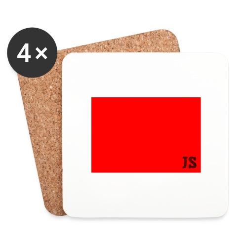JustSquares Rood - Onderzetters (4 stuks)