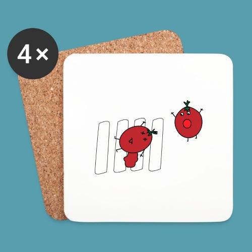tomaatit - Lasinalustat (4 kpl:n setti)