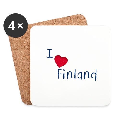 I Love Finland - Lasinalustat (4 kpl:n setti)