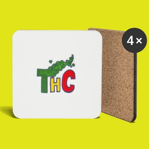 THC logo one - Sottobicchieri (set da 4 pezzi)