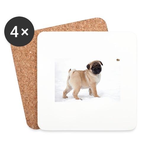walker family pug merch - Coasters (set of 4)