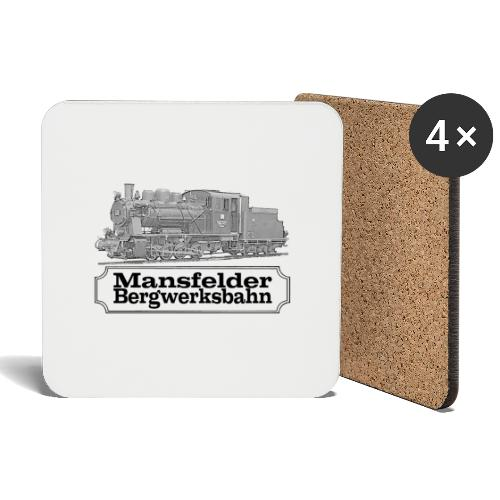 mansfelder bergwerksbahn dampflok 2 - Untersetzer (4er-Set)