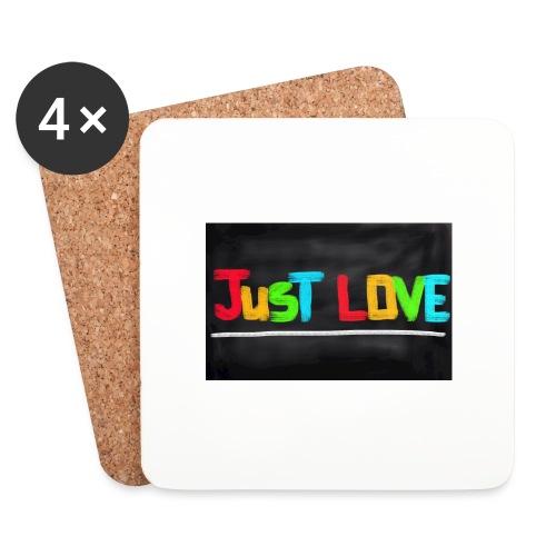 Just love tasse - Dessous de verre (lot de 4)