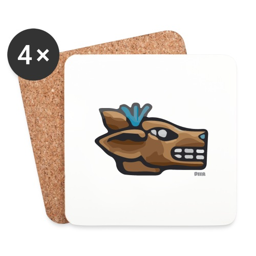 Aztec Icon Deer - Coasters (set of 4)