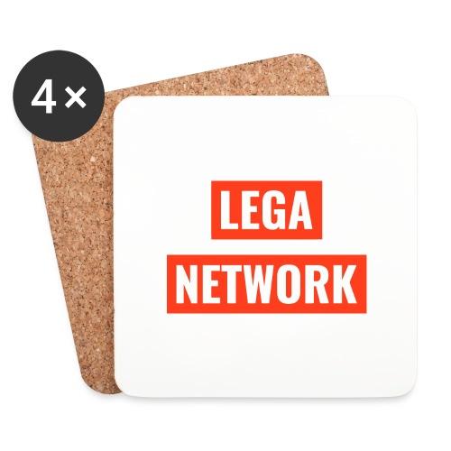 Logo Lega Network - Sottobicchieri (set da 4 pezzi)