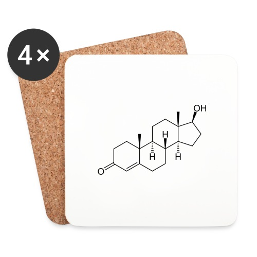 Testosterone - Coasters (set of 4)
