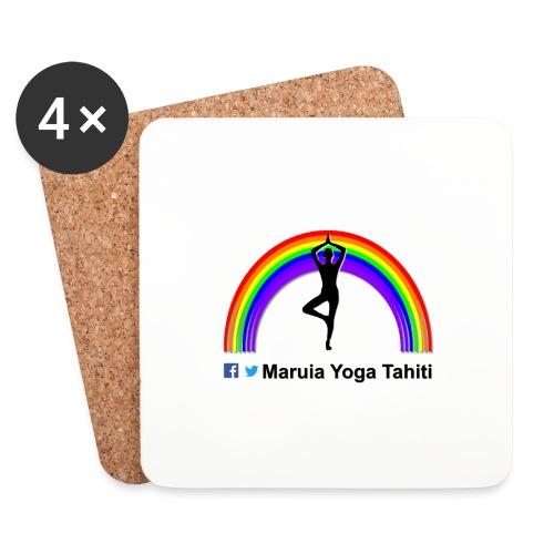 Logo de Maruia Yoga Tahiti - Dessous de verre (lot de 4)