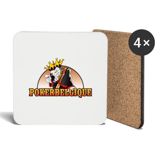 Logo Poker Belgique - Dessous de verre (lot de 4)