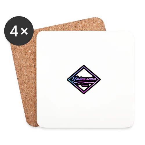 jordan sennior logo - Coasters (set of 4)