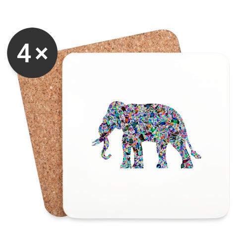 Elephant - Coasters (set of 4)
