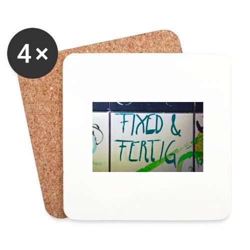 KLOSPRUCH FIXED & FERTIG - Untersetzer (4er-Set)