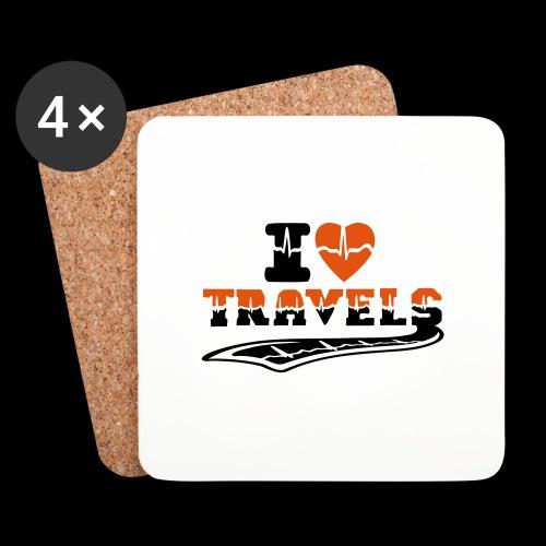 i love travels surprises 2 col - Coasters (set of 4)