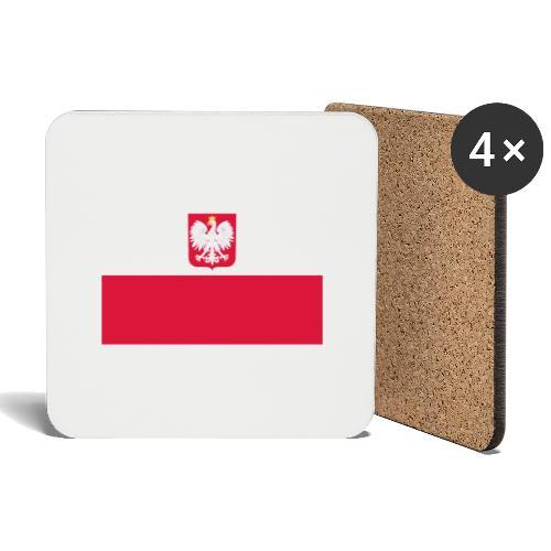 Flag of Poland with coat of arms - Podstawki (4 sztuki w zestawie)