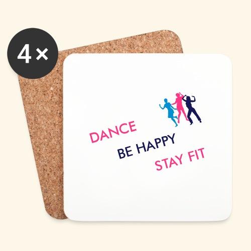 Dance - Be Happy - Stay Fit - Untersetzer (4er-Set)