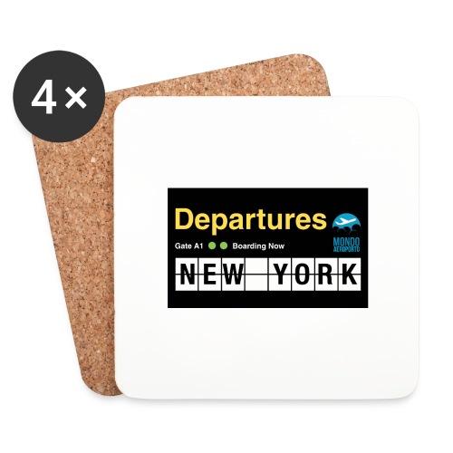Departures Defnobarre 1 png - Sottobicchieri (set da 4 pezzi)