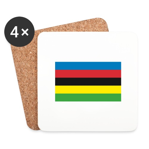 Cycling_World_Champion_Rainbow_Stripes-png - Onderzetters (4 stuks)