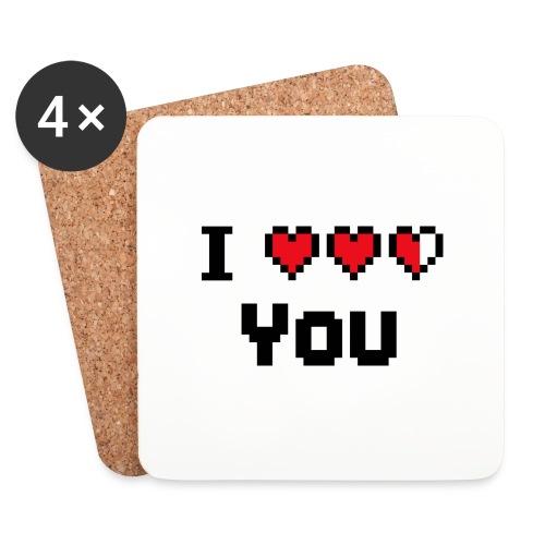 I pixelhearts you - Onderzetters (4 stuks)