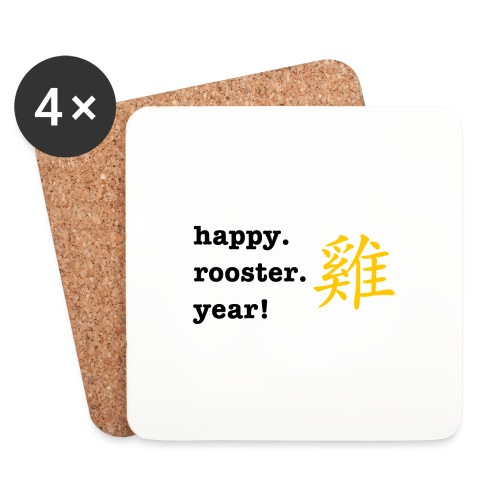 happy rooster year - Coasters (set of 4)