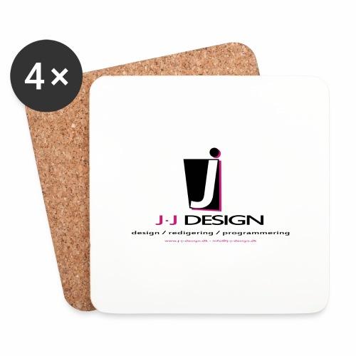 LOGO_J-J_DESIGN_FULL_for_ - Glasbrikker (sæt med 4 stk.)