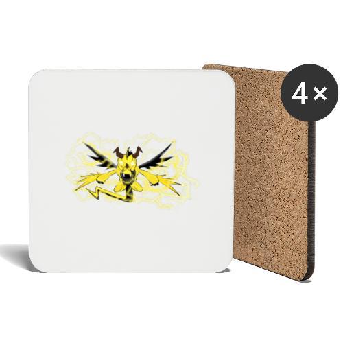 Fulgur il drago elettrizzante - Sottobicchieri (set da 4 pezzi)