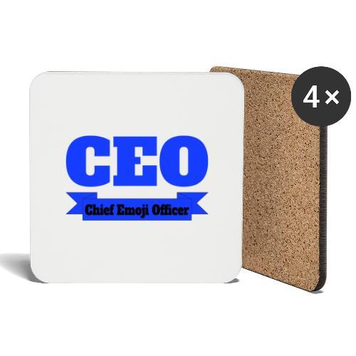 CEO - Chief Emoji Officer - Untersetzer (4er-Set)