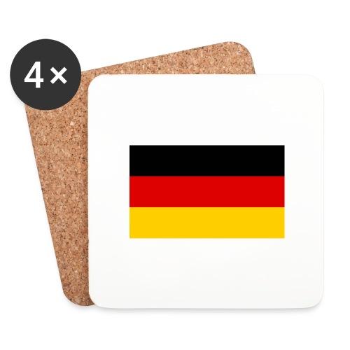 2000px Flag of Germany svg - Untersetzer (4er-Set)