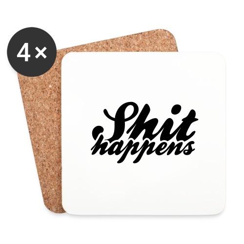 Shit Happens and Politics - Coasters (set of 4)