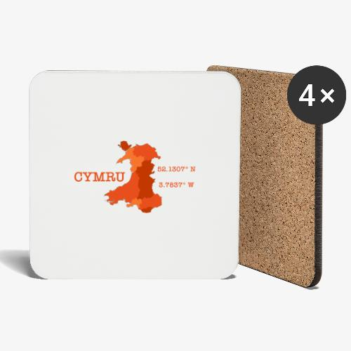 Cymru - Latitude / Longitude - Coasters (set of 4)