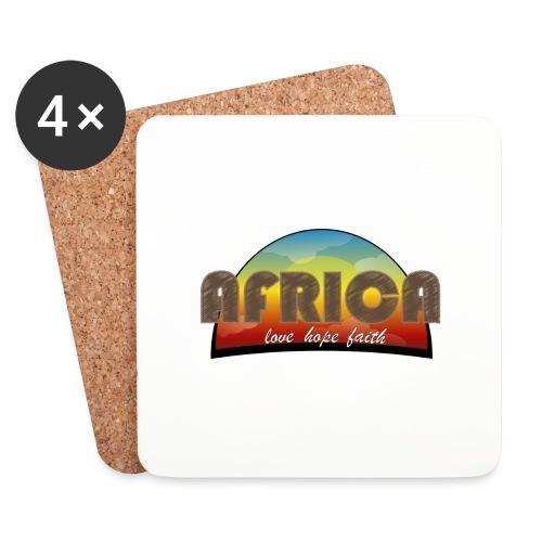 Africa_love_hope_and_faith - Sottobicchieri (set da 4 pezzi)