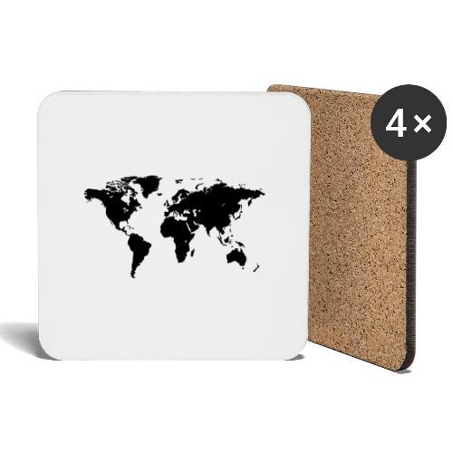 World Map - Untersetzer (4er-Set)