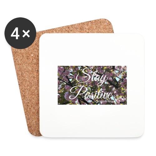 STAY POSITIVE #FRASIMTIME - Sottobicchieri (set da 4 pezzi)