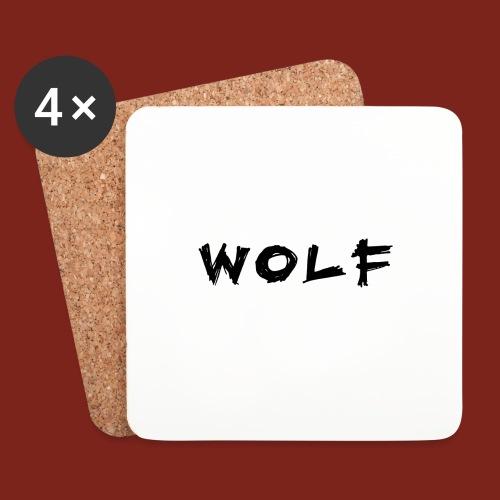 Wolf Font png - Onderzetters (4 stuks)