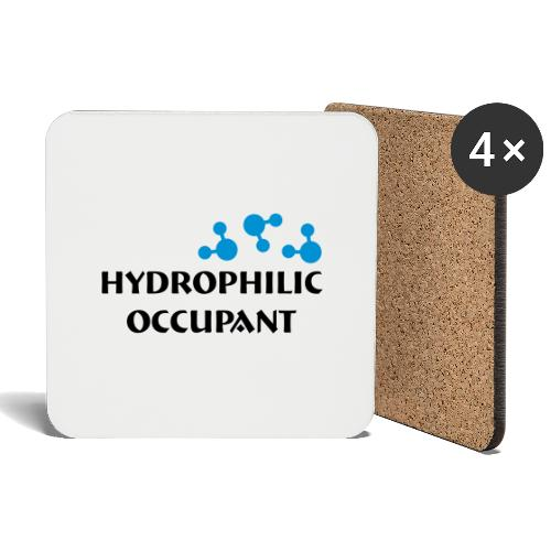 Hydrophilic Occupant (2 colour vector graphic) - Coasters (set of 4)