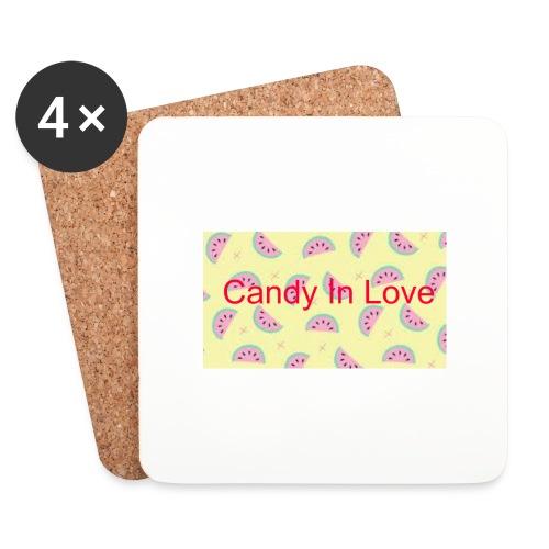 Merchandise Candy In Love - Onderzetters (4 stuks)