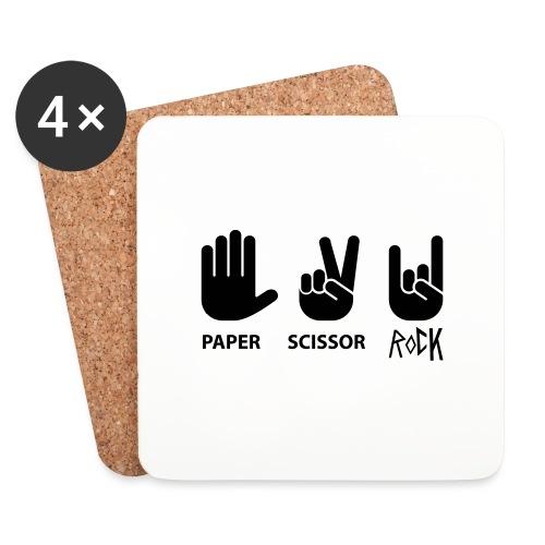 paper scissor rock - Onderzetters (4 stuks)
