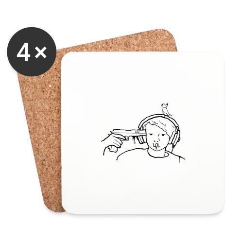 kys valkoinen - Lasinalustat (4 kpl:n setti)
