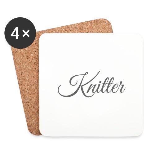 Knitter, dark gray - Coasters (set of 4)