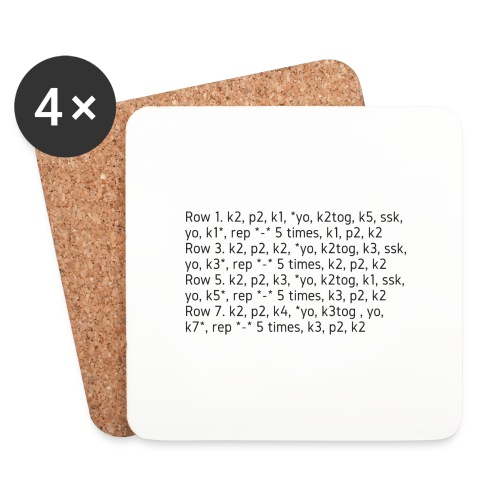 Knit Talk, dark - Coasters (set of 4)