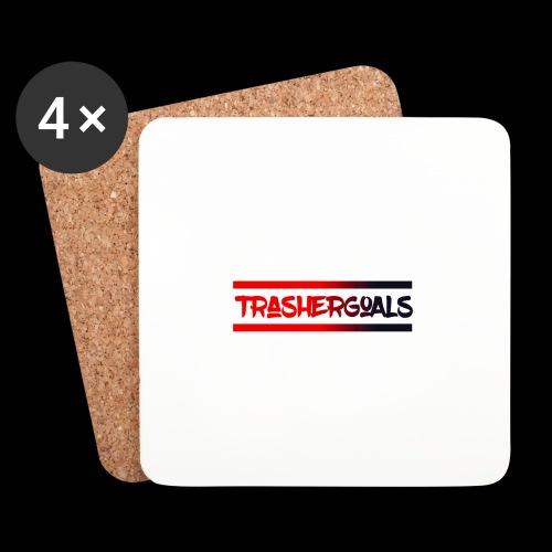 trashergoals lgo red-black - Onderzetters (4 stuks)