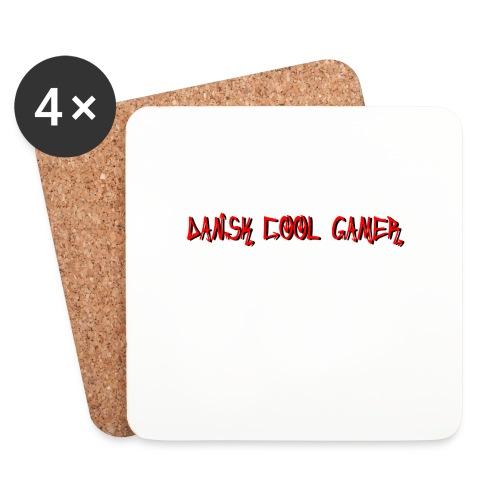 Dansk cool Gamer - Glasbrikker (sæt med 4 stk.)