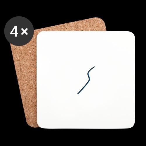 logo Style bleu - Dessous de verre (lot de 4)