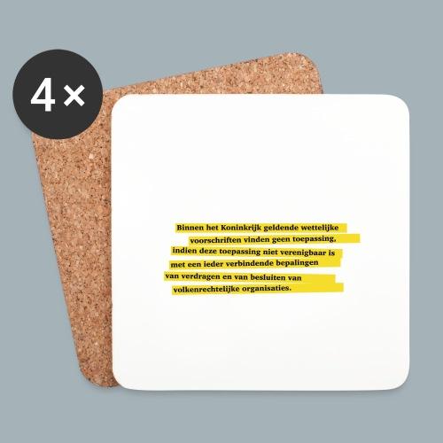 Nederlandse Grondwet T-Shirt - Artikel 94 - Onderzetters (4 stuks)