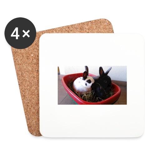 Warme Sachen mit dem Hasenlogo - Untersetzer (4er-Set)